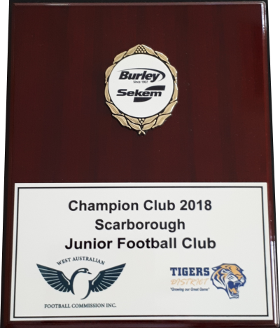 2018 Club of the Year - Trophy